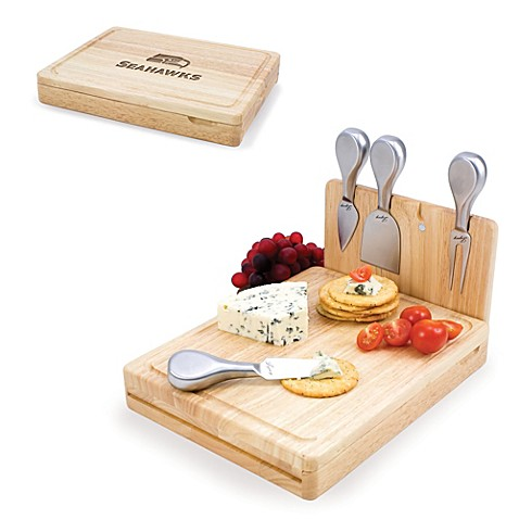 Picnic Time Asiago Folding Cheese Serving Set - Seattle Seahawks