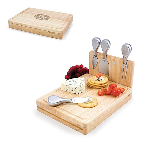 Picnic Time Asiago Folding Cheese Serving Set - San Francisco 49ers