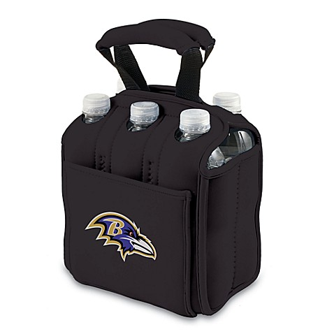 Picnic Time® Baltimore Ravens Six-Pack Cooler Tote in Black