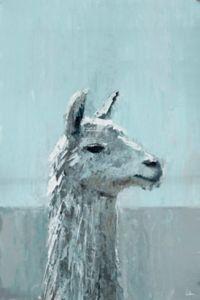 Marmont Hill Bonjour Llama 12-Inch x 8-Inch Canvas Wall Art