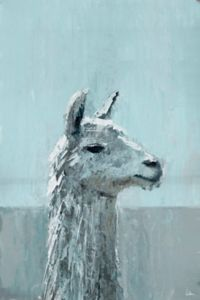 Marmont Hill Bonjour Llama 24-Inch x 16-Inch Canvas Wall Art