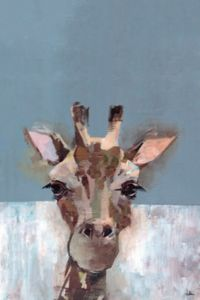 Marmont Hill Bonjour Giraffe 8-Inch x 12-Inch Canvas Wall Art