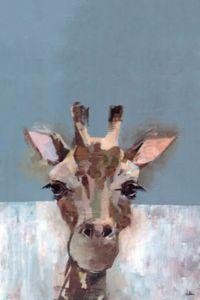 Marmont Hill Bonjour Giraffe 18-Inch x 12-Inch Canvas Wall Art