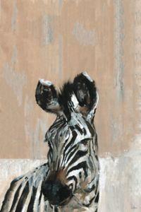 Marmont Hill Bonjour Zebra 18-inch x 12-Inch Canvas Wall Art