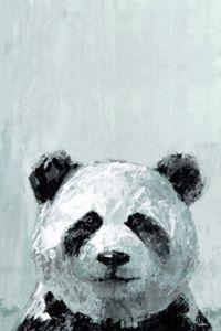 Marmont Hill Bonjour Panda 12-Inch x 8-Inch Canvas Wall Art