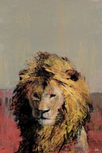 Marmont Hill Bonjour Lion 12-Inch x 8-Inch Canvas Wall Art