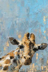 Marmont Hill Oh Giraffe 12-Inch x 8-Inch Canvas Wall Art