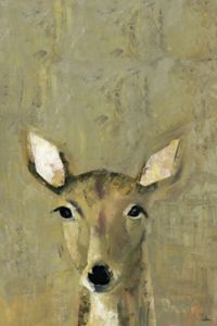 Marmont Hill Oh My Deer 12-Inch x 8-Inch Canvas Wall Art