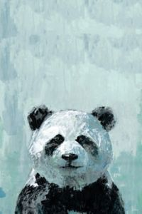 Marmont Hill What up Panda 12-Inch x 8-Inch Canvas Wall Art