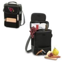 Picnic Time® Arizona Cardinals Duet Insulated 2-Bottle Wine and Cheese Tote in Black