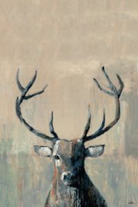 Marmont Hill 'What up Buck' 45-Inch x 30-Inch Canvas Wall Art