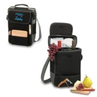 Picnic Time® Carolina Panthers Duet Insulated 2-Bottle Wine and Cheese Tote in Black