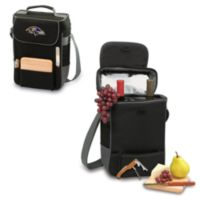 Picnic Time® Baltimore Ravens Duet Insulated 2-Bottle Wine and Cheese Tote in Black