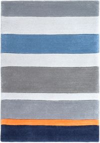 Surya Chic Striped 2' x 3' Handcrafted Accent Rug in Blue