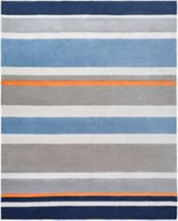 Surya Chic Striped 3' x 5' Handcrafted Area Rug in Blue