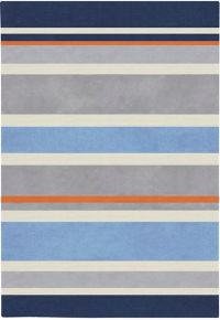Surya Chic Striped 4'10 x 7' Handcrafted Area Rug in Blue