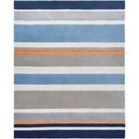 Surya Chic Striped 8' x 10' Handcrafted Area Rug in Blue