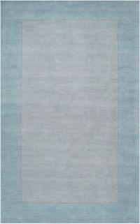 Surya Mystique Solid Border 5' x 8' Area Rug in Blue/Grey