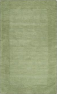 Surya Mystique Solid Border 2' x 3' Accent Rug in Green