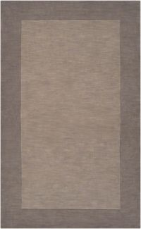 Surya Mystique Solid Border 3'3 x 5'3 Area Rug in Grey/Brown