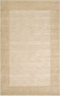 Surya Mystique Solid Border 5' x 8' Area Rug in Khaki