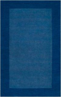 Surya Mystique Solid Border 5' x 8' Area Rug in Dark Blue