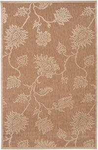 Surya Portera Floral 8'8 x 12' Indoor/Outdoor Area Rug in Neutral