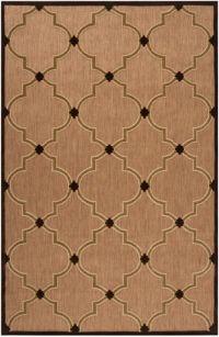 Surya Portera Modern 3'9 x 5'8 Indoor/Outdoor Area Rug in Brown/Neutral