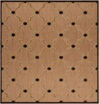 Surya Portera Modern 7'6 Square Indoor/Outdoor Rug in Brown/Neutral