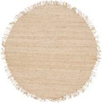 Surya Jute Bleached Natural 6' Round Rug in Cream