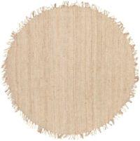 Surya Jute Bleached Natural 8' Round Rug in Cream