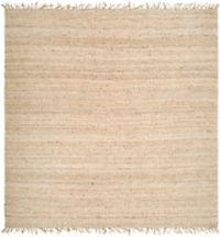Surya Jute Bleached Natural 8' Square Rug in Cream