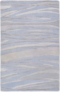 Surya Shibui 2' x 3' Hand-Knotted Area Rug in Blue/Neutral