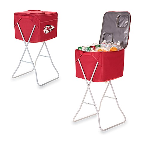 Picnic Time® Kansas City Chiefs Party Cube Portable Cooler with Stand in Red