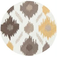 Surya Brentwood 3' Round Accent Rug in Yellow/Brown