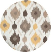 Surya Brentwood 4' Round Accent Rug in Yellow/Brown