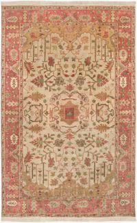 Surya Adana Classic 3'9 x 5'9 Area Rug in Camel/Red