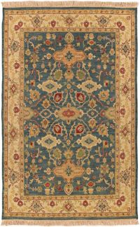 Surya Soumek Classic 4' x 6' Area Rug in Dark Green
