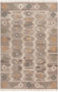 Surya Jewel Tone 5' x 8' Area Rug in Beige/Camel