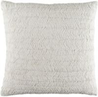 Surya Lindon Textured European Pillow Sham in White
