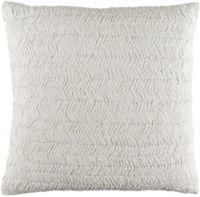 Surya Lindon Textured European Pillow Sham in White