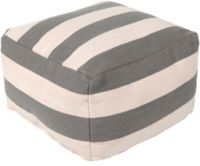 Surya Frontier 24-Inch Pouf in Grey/Cream