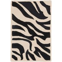 Surya Goa Animal 2' x 3' Handcrafted Accent Rug in Khaki/Black