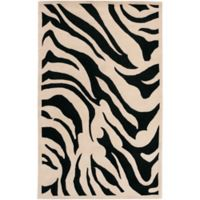 Surya Goa Animal 5' x 8' Handcrafted Area Rug in Khaki/Black
