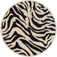 Surya Goa Animal 7'9 Handcrafted Round Area Rug in Khaki/Black