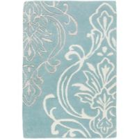 Surya Modern Classics Damask 2' x 3' Accent Rug in Denim