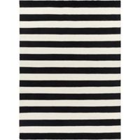 Surya Frontier Striped 8' x 11' Area Rug in White/Black
