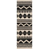 Surya Frontier Southwest 8' Runner in Taupe/Black