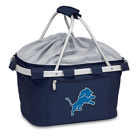 Detroit Lions Picnic Time® Metro Insulated Basket in Navy Blue