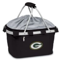 Green Bay Packers Picnic Time® Metro Insulated Basket in Black